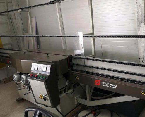 Schiatti üvegcsiszoló és polírozó gép