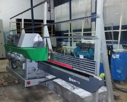 Bottero straight line glass bevelling machine